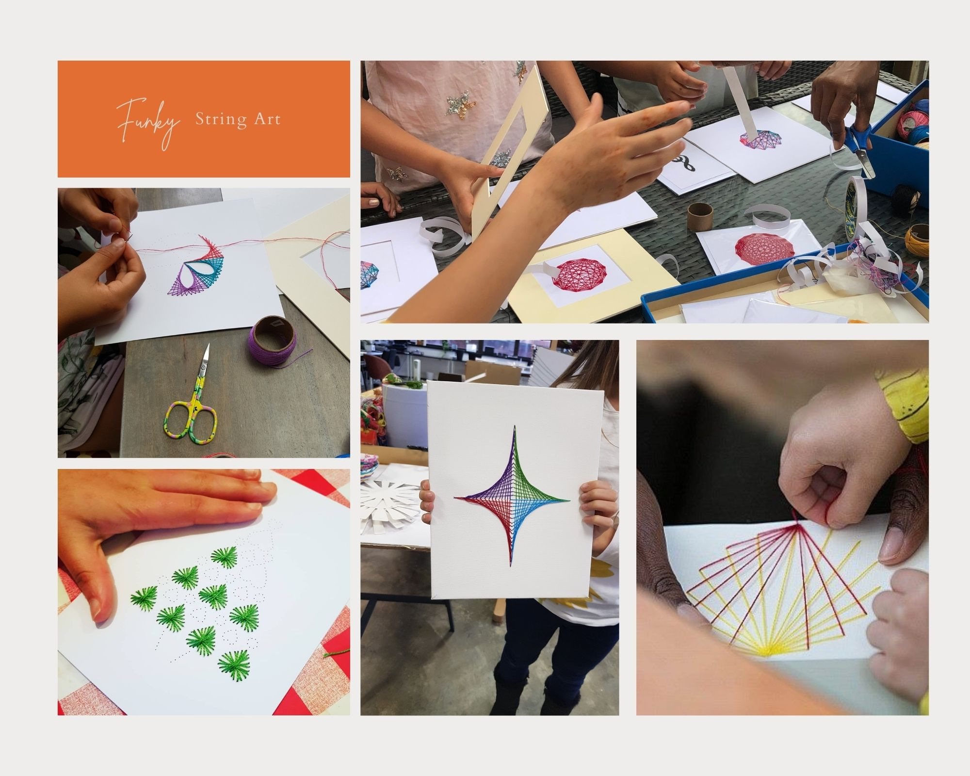 String Art Classes for children with Laurie O'Garro
